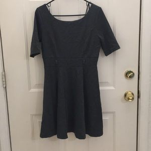 Forever 21 Gray Dress with Mid-length Sleeves